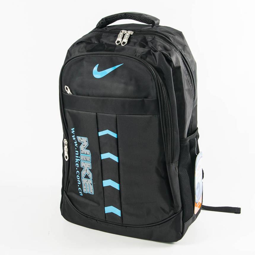 Оптом спортивный рюкзак Nike черный с синим - 876, фото 2