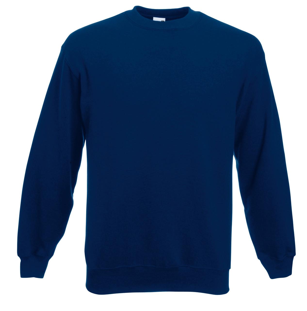 Мужской классический свитер Тёмно-синий Fruit Of The Loom 62-202-32 Xxl
