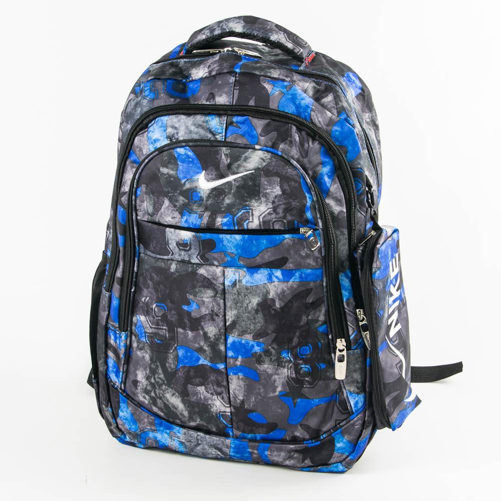 Оптом рюкзак спортивный Nike черный с синим - 926