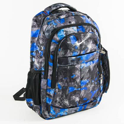 Оптом рюкзак спортивный Nike черный с синим - 926, фото 3