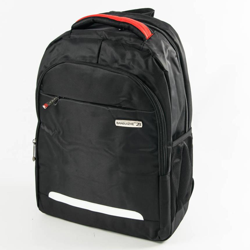 Оптом крепкий рюкзак для школы и прогулок - черный - 6-F17-10, фото 2