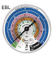 Манометр  EBL - LBP низкого давления на R-22, 407c, 410с; Bar/psi/°C