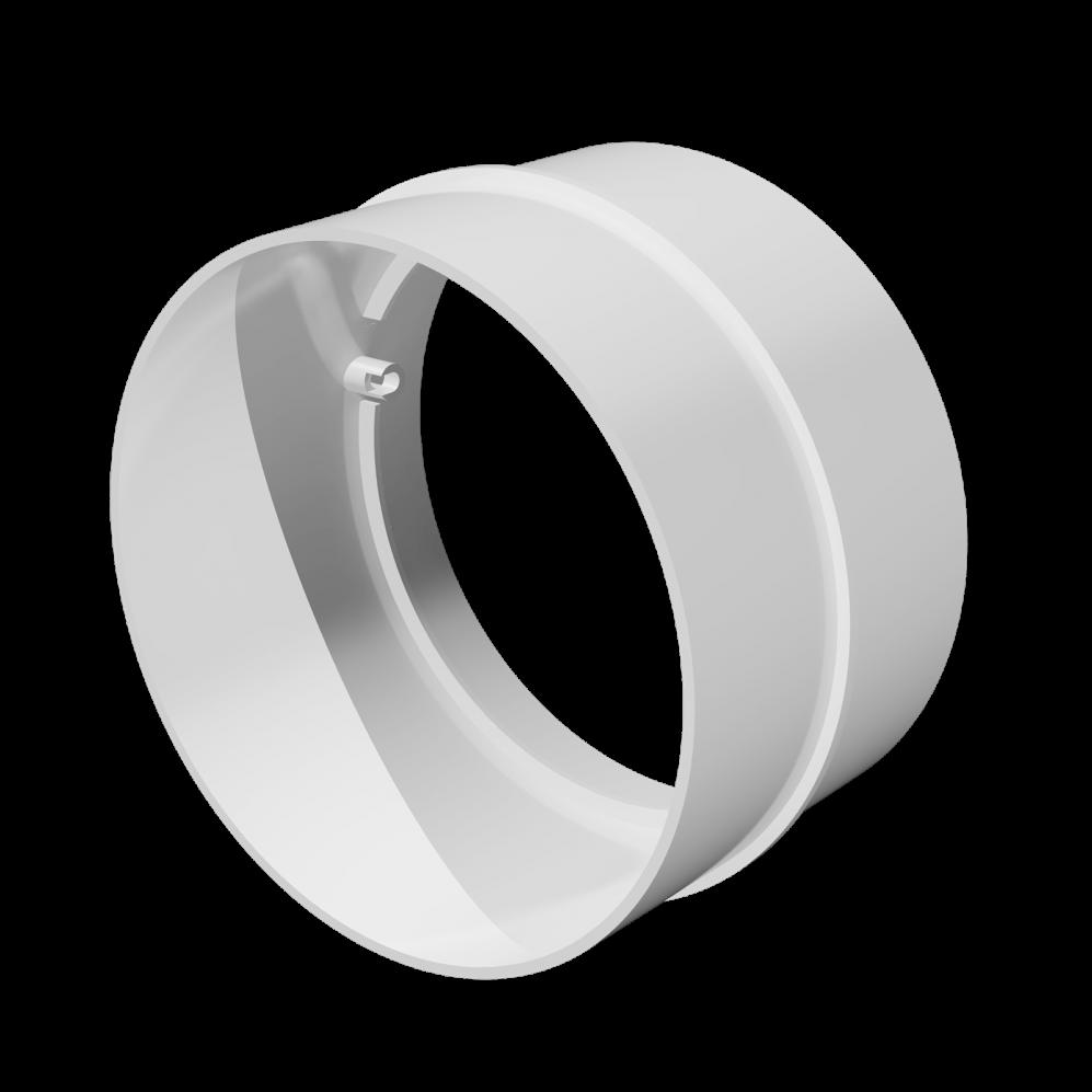 Соединитель пластик D125 мм, шт