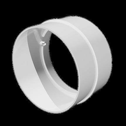 Соединитель пластик D125 мм, шт, фото 2