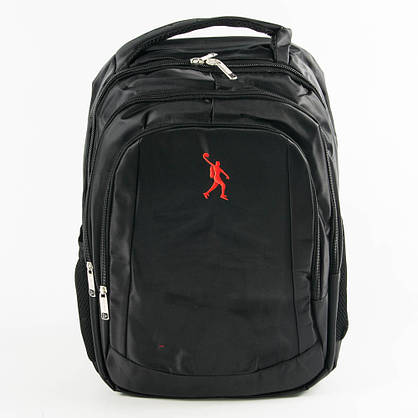 Оптом универсальный рюкзак для школы и прогулок - черный - 3002, фото 2