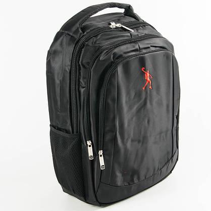 Оптом универсальный рюкзак для школы и прогулок - черный - 3002, фото 3