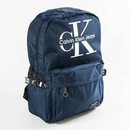Оптом прогулочный/школьный рюкзак Calvin Klein Jeans - синий - СК95-1, фото 3