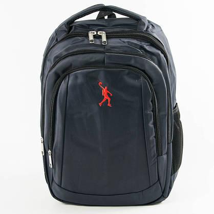 Оптом универсальный рюкзак для школы и прогулок - синий - 3002, фото 2