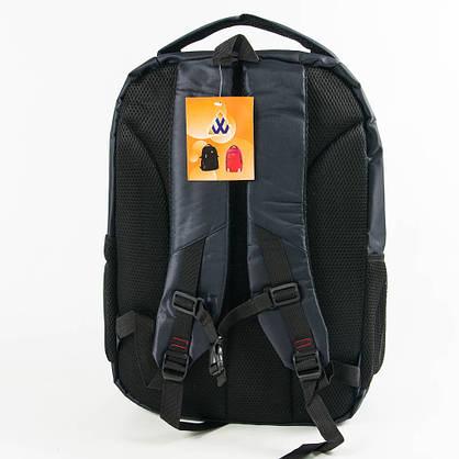 Оптом универсальный рюкзак для школы и прогулок - синий - 3002, фото 3