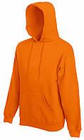 Мужская классическая толстовка с капюшоном Оранжевая Fruit Of The Loom 62-208-44 L