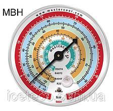 Манометр MBH Mastercool - HBP высокого давления на R-22, 134a, 404a, 407с, 507a; Bar/°C