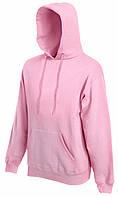 Мужская классическая толстовка с капюшоном Светло-Розовая Fruit Of The Loom 62-208-52 L
