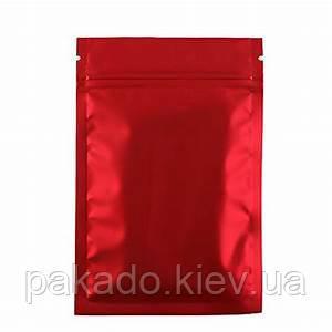Пакет Саше 190х300 КРАСНЫЙ мат. zip-замок, насечки (открытый низ)