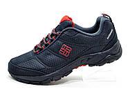 Зимние кроссовки в стиле Columbia Waterproof, Dark Blue\Red (Термо)