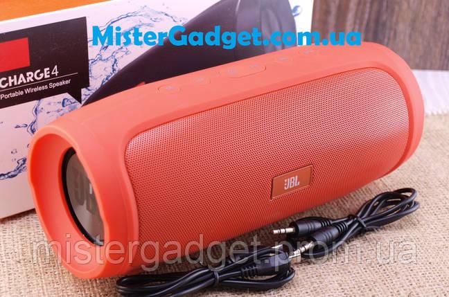 Колонка беспроводная JBL Charge 4 Orange 16W Bluetooth ESR MicroSD ESR 2400mAh копия, фото 2