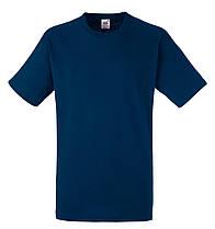 Мужская футболка Плотная Fruit of the loom Тёмно-синий 61-212-32 S