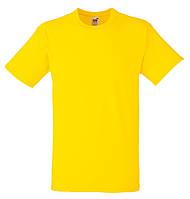 Мужская футболка Плотная Fruit of the loom Жёлтый 61-212-K2 L, фото 1
