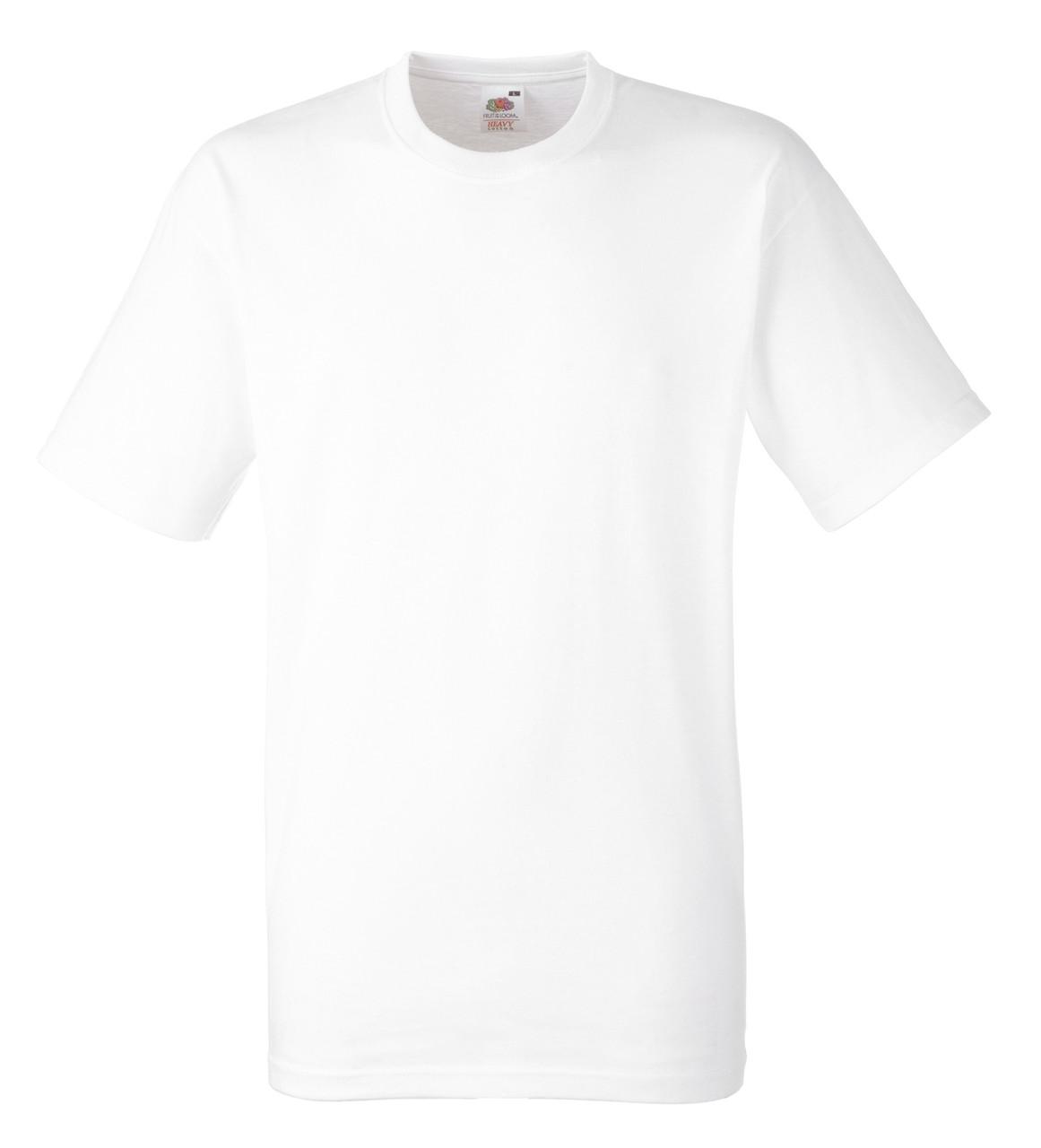 Мужская футболка Плотная Fruit of the loom Белый 61-212-30 XL