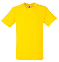 Мужская футболка Плотная Fruit of the loom Жёлтый 61-212-K2 XXL, фото 1