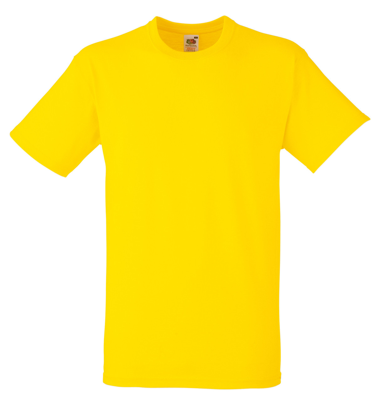 Мужская футболка Плотная Fruit of the loom Жёлтый 61-212-K2 3XL