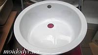 Кухонная мойка эмалированная 450 мм белая, фото 1