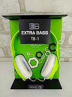 Наушники гарнитура Coco Extra Bass TB-1 green
