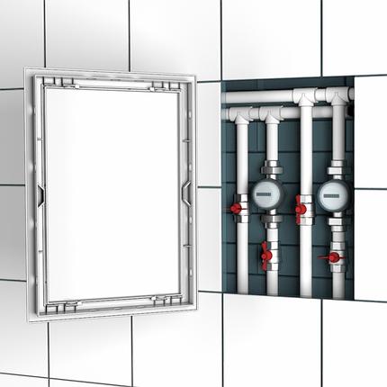 Люк-дверца ревизионная, нажимная 168х218/146х196 мм, шт, фото 2