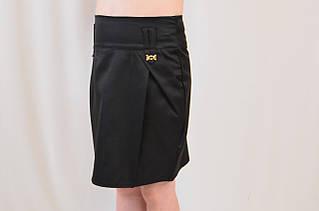 Стильная школьная юбка с карманами на девочку р.122-152