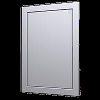 Люк-дверца ревизионная, нажимной gray metal 218х318/196х297 мм, шт