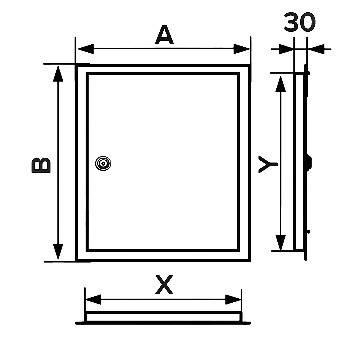 Люк-дверца ревизионная 660х860, фланец 600х800 мм, шт, фото 2