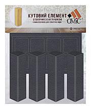 Плинтус МДФ графит 80х19 мм, шт, фото 2