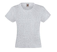 Детская Классическая футболка для Девочек Серо-лиловая Fruit of the loom 61-005-94 3-4, фото 1