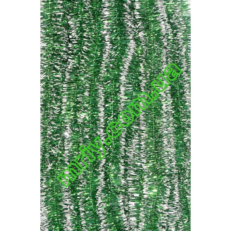Новогодняя мишура Д2  зеленый/б
