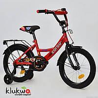 """Велосипед 16"""" дюймов 2-х колёсный С16320  """"CORSO"""" Красный"""