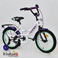 """Велосипед 16"""" дюймов 2-х колёсный  С16430  """"CORSO"""" Белый"""