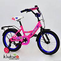 """Велосипед 16"""" дюймов 2-х колёсный  С16650 """"CORSO"""" Розовый"""