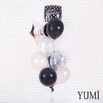 Стильная композиция их шаров с гелием для мужчины, фото 2