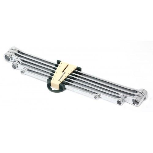 Набор ключей накидных экстра длинных, 6пр.(8х10, 11х13, 12х14, 15х17, 16х18, 19х21мм), в пластиковом держателе