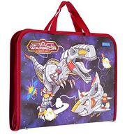 Папка-портфель на молнии с тканевыми ручками Space Warrior. Папка портфель для ребенка .