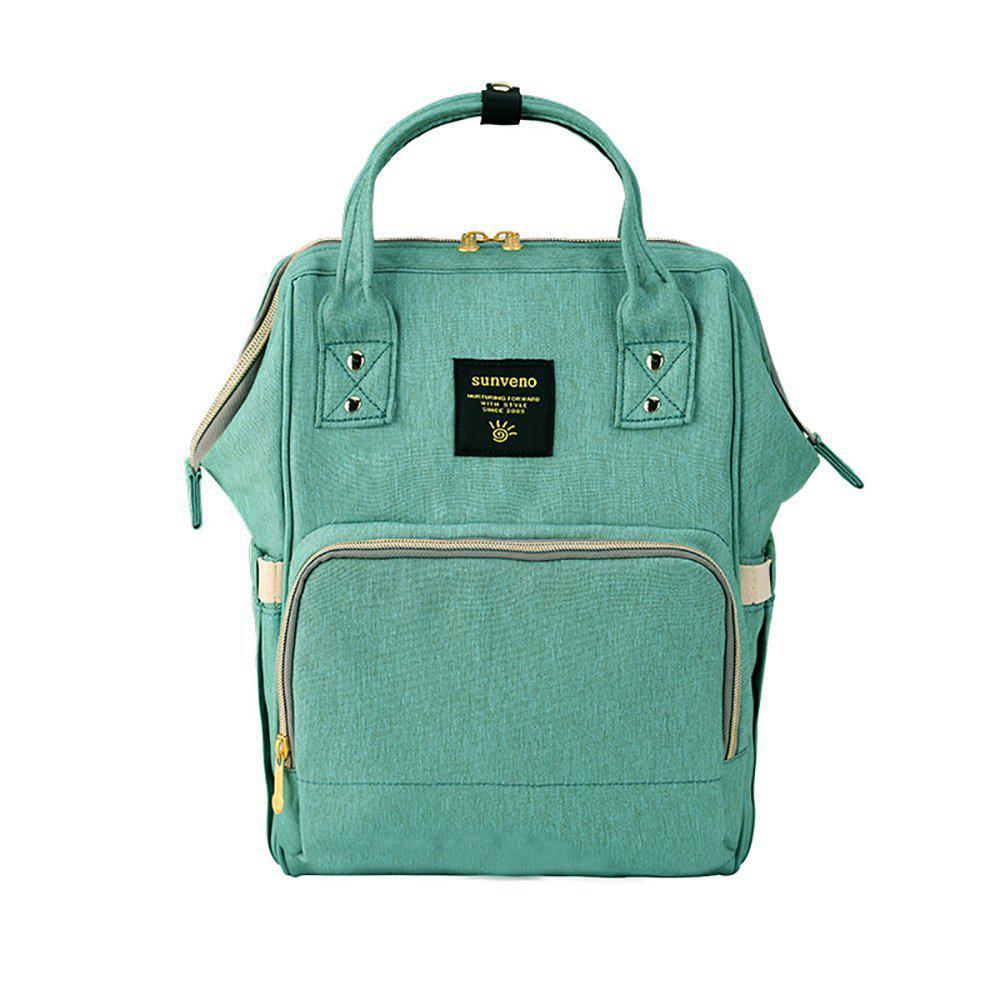 dd04164762ad Рюкзак-сумка для мам Оригинал Sunveno Medium. Умный органайзер. Стильный  дизайн. Бирюзовый