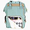 Рюкзак-сумка для мам Оригинал Sunveno Medium. Умный органайзер. Стильный дизайн. Бирюзовый, фото 7