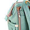 Рюкзак-сумка для мам Оригинал Sunveno Medium. Умный органайзер. Стильный дизайн. Бирюзовый, фото 5