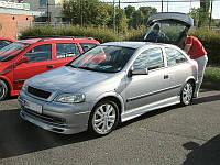 Накладка на передний бампер для Opel Astra G