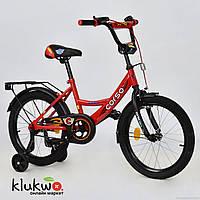 """Велосипед 18"""" дюймов 2-х колёсный  С18260  """"CORSO"""" Красный"""