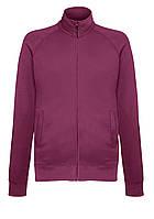 Облегченный свитер На Замке Fruit Of The Loom Бордовый Размер L SWEAT JACKET 62-160-41 L
