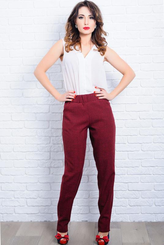 Лляні літні брюки Крит бордовий