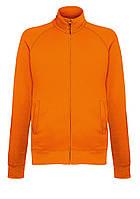 Мужская лёгкая кофта на замке Оранжевая Fruit Of The Loom  62-160-44 XXL, фото 1