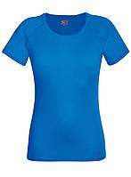 Женская Спортивная Ярко-синяя Футболка Fruit of the loom 61-392-51 XL, фото 1