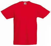Детская Легкая Футболка Красная Fruit of the loom 61-019-40 14-15