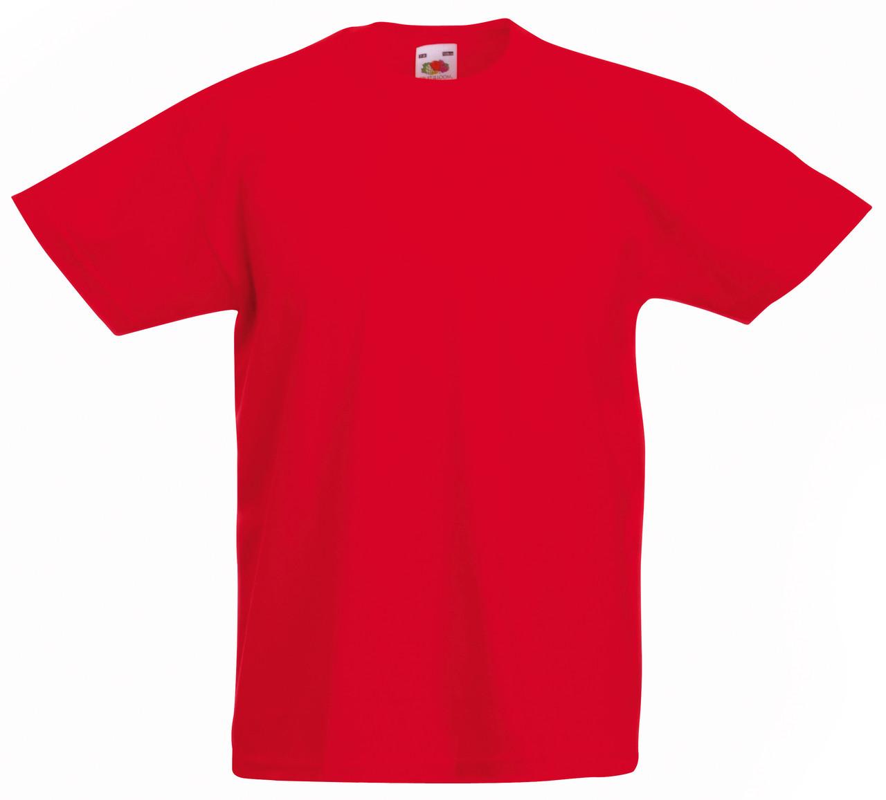 Детская Легкая Футболка Красная Fruit of the loom 61-019-40 12-13